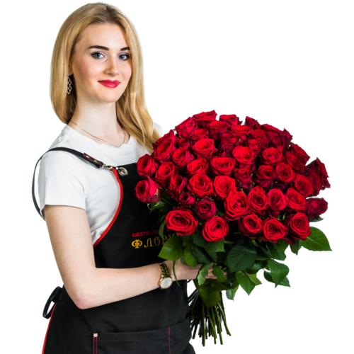 """51 красная роза """"Очарование"""""""