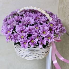 Корзиночка из хризантем