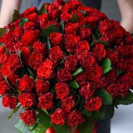 Роза Эль Торо 60 см 51 шт. в крафте