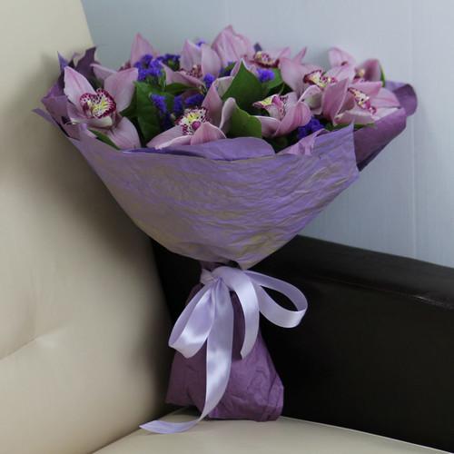 Букет «Розовые орхидеи»