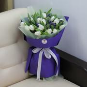 Букет «Белые, синие гиацинты»