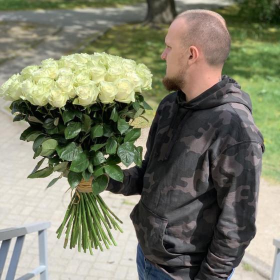 51 Белая Роза 70см