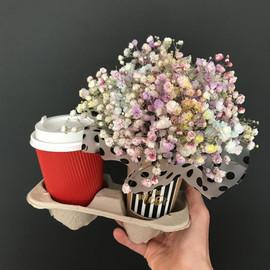 Кофе+цветочный капучино