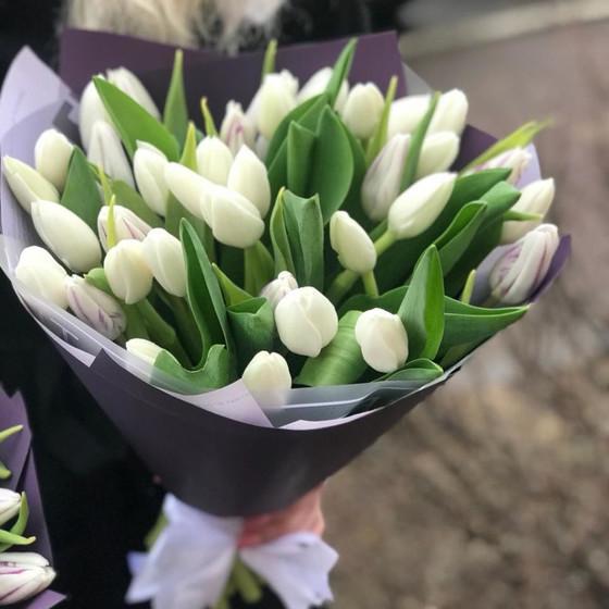 Голландские хрустящие тюльпанчики в белом цвете