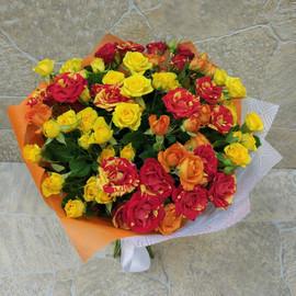 Букет из 15 кустовых роз (БК - 19055)