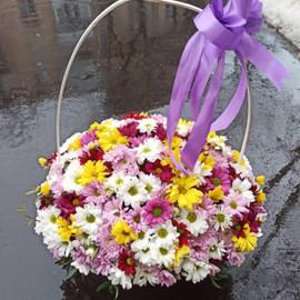 Корзина с цветами «Ромашковое поле»