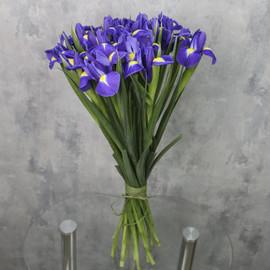 Букет «21 синий ирис»