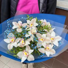 Букет «Свежая белая орхидея»
