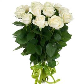 Роза Аваланж 60 см в крафте, 15 шт.
