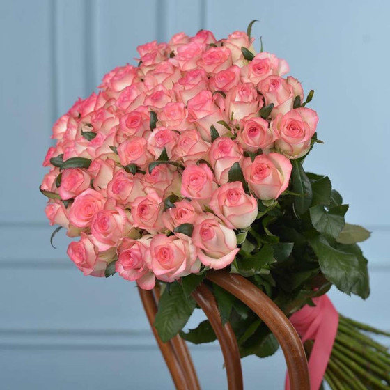 Роза Джумилия 50 см 51 шт. в крафте