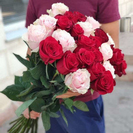 Розовое на красном