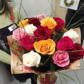 Букет из 15 роз эквадор