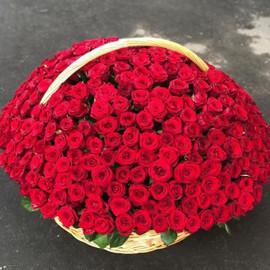 """Букет """"301 красная роза в корзине"""""""