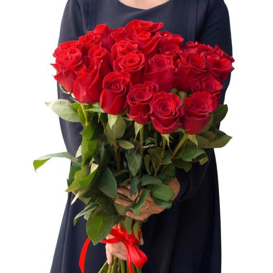 19 элитных эквадорских роз 60см