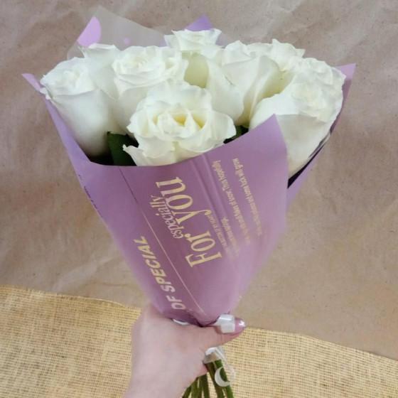 Букет 11 белых роз