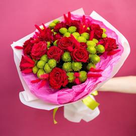 "Букет из роза и хризантем ""Красотка"""