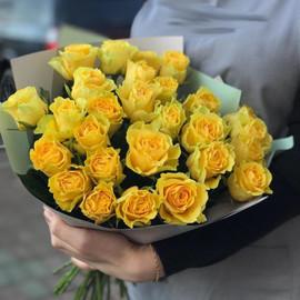 Букет из 25 лимонных роз