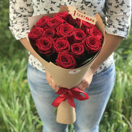 15 красных роз на 1 сентября