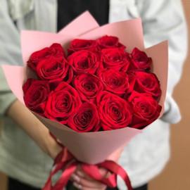 Букет из 15 красных роз премиум