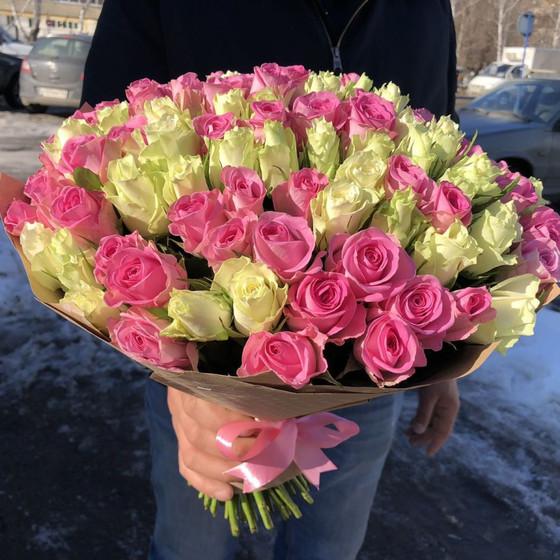 101 роза 50см