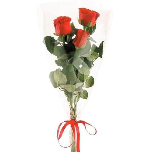 3 красные розы
