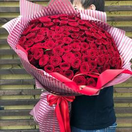 Огромный букет из 101 розы