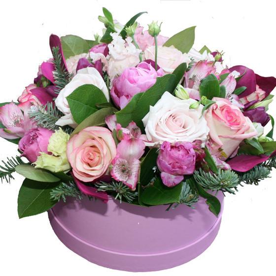 """Коробка с цветами """" Милая моя"""""""