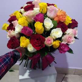 Букет из 71 Розы микс