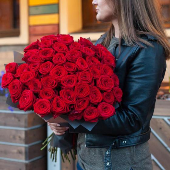 Красный Джони 51 роза