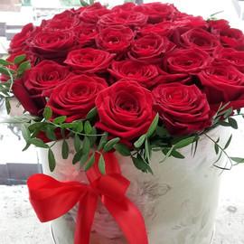 Шикарный бокс с 29 красной розой