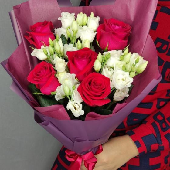 Букет Роз и Эустомы