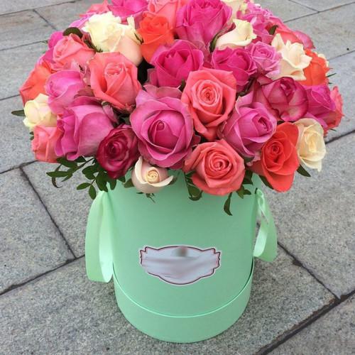 Hatbox из 101 розы