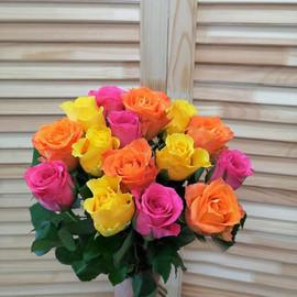 """Букет из 15 роз """"Солнечный"""""""