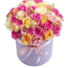 """коробка с цветами """"Нежные  воспоминания"""""""