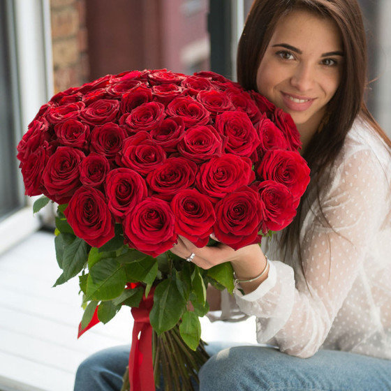 Букет из 39 красных роз