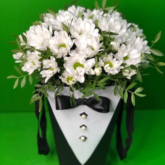 """Цветы в коробке """"Смокинг"""""""