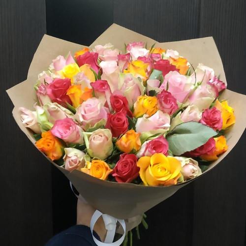 51 роза микс для вашей второй половинки