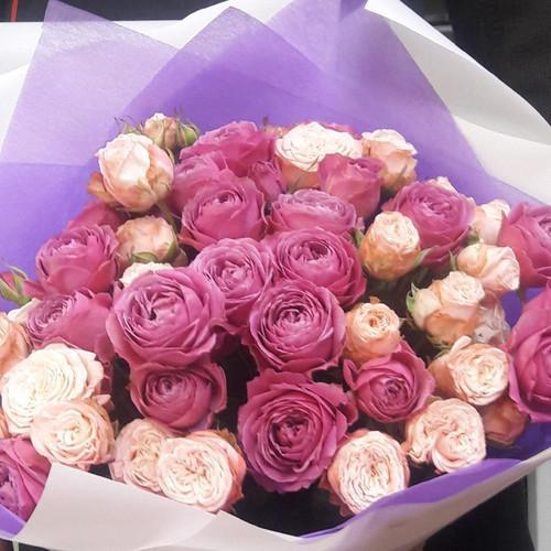 Букет из пионовидных роз Счастье