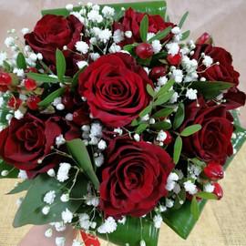 Свадебный комплимент 7 красных роз