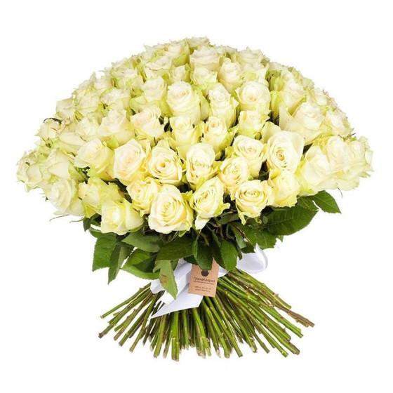 Букет из белых роз 40 см