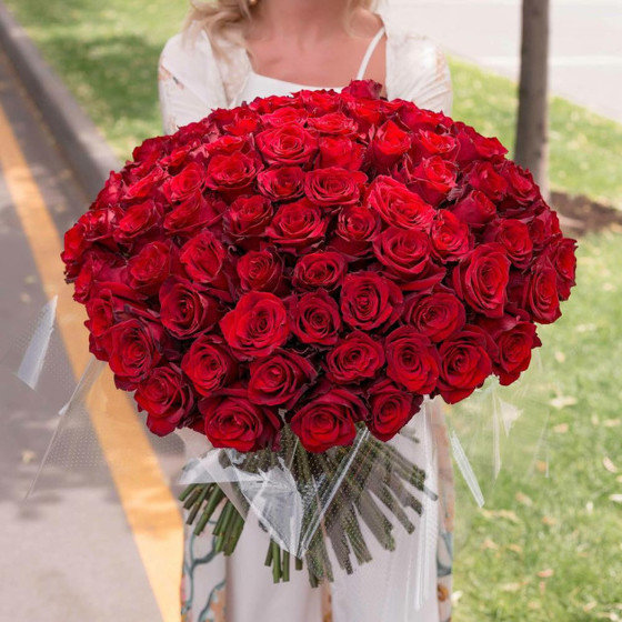 """Букет """"101 Красная Роза высокая"""""""