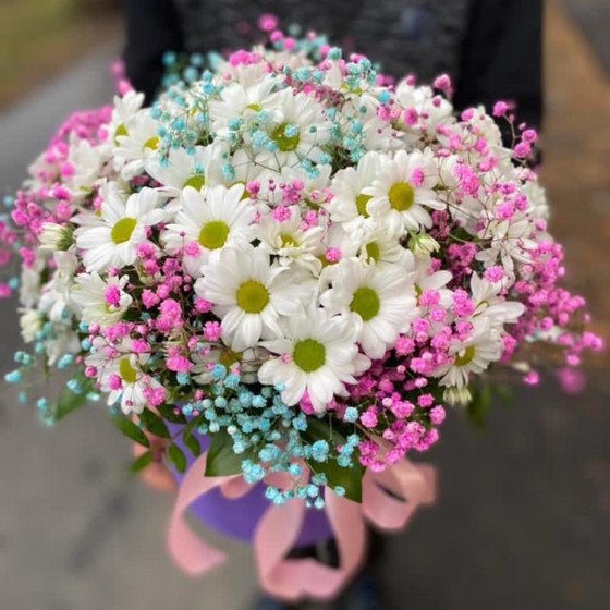 Цветы в коробке  «Яркие моменты»