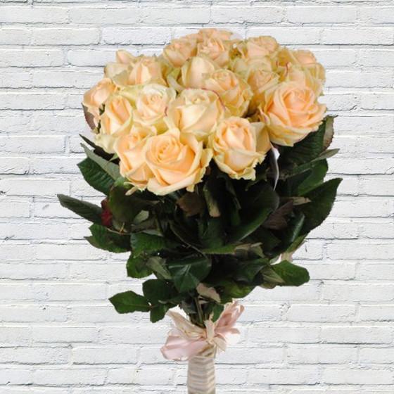 "Роза ""Пич Аваланж"" 60 см, 19 шт."