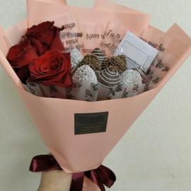 Мерси + 3 розы