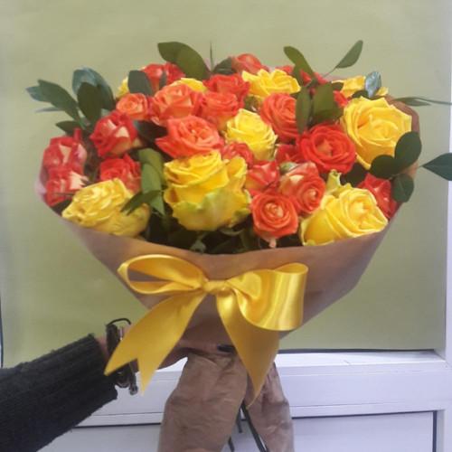 Букет из роз Солнышко