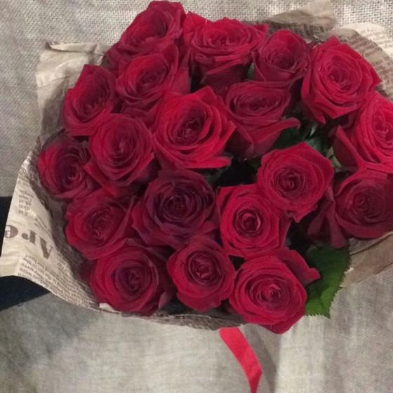 19 роз Россия в крафте