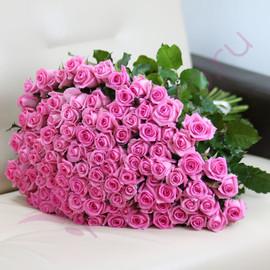 """Букет """"101 розовая роза Ревиваль 50 см"""""""