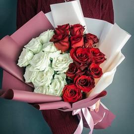 Букет из роз Инь Янь