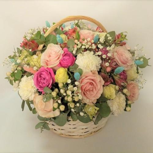 """Корзина с цветами """"Цветочный сад"""""""