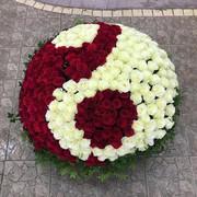 """Букет """"Корзина из 301 розы """"Инь-Янь"""""""""""